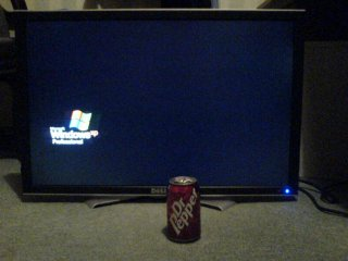 A can of Dr Pepper with my Dell 3007WFP
