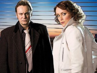 Gene Hunt's tie (Philp Glenister with Keeley Hawes)