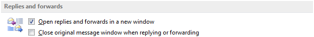 Annoying Outlook 2013 Default Setting - Open replies and forwards in a new window