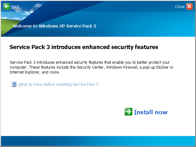 What to know before installing Service Pack 3