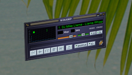 Winamp window on Vista x64